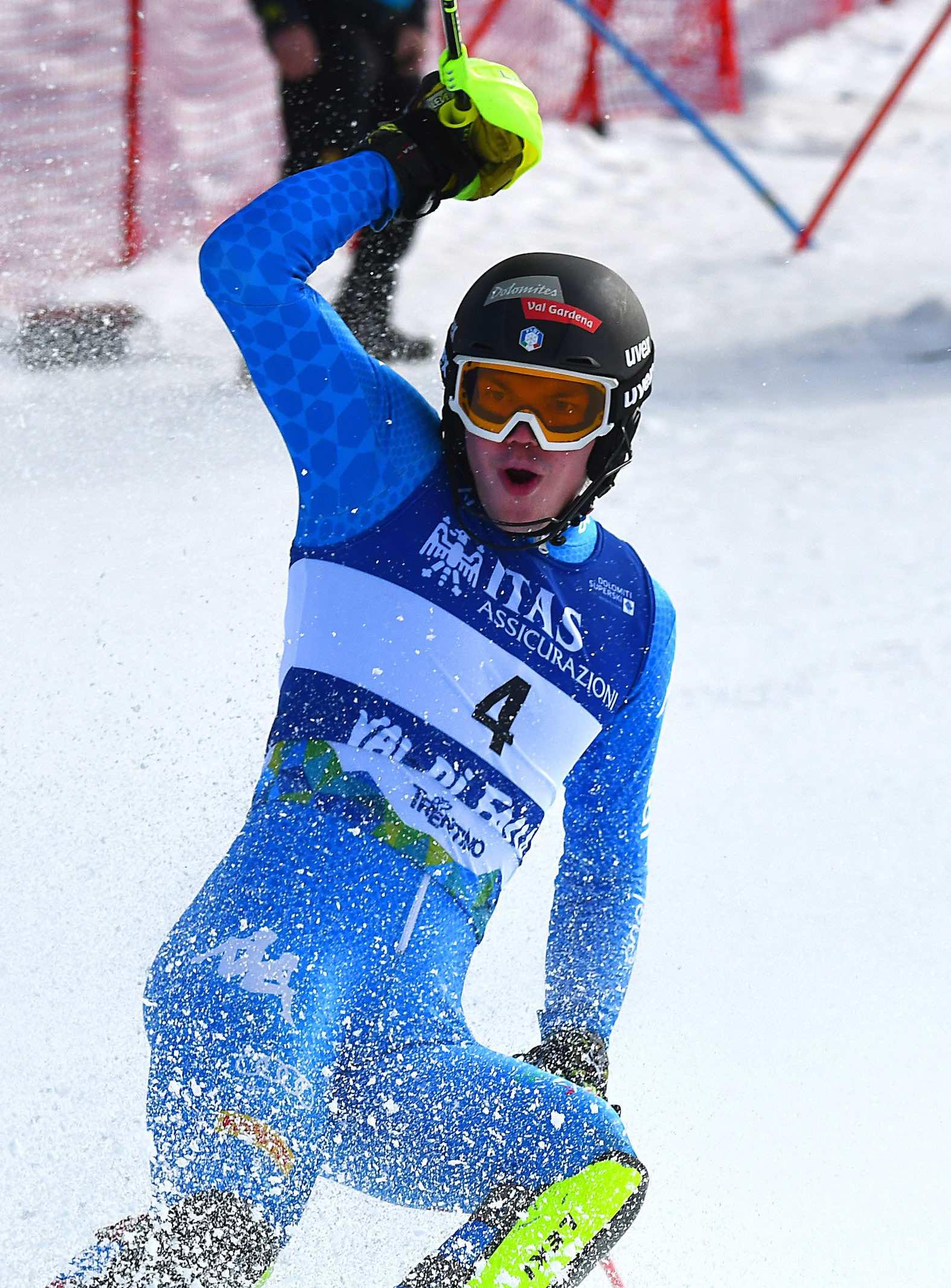 Alex Vinateze, slalom speciale Mondiale Juniores Val di Fassa