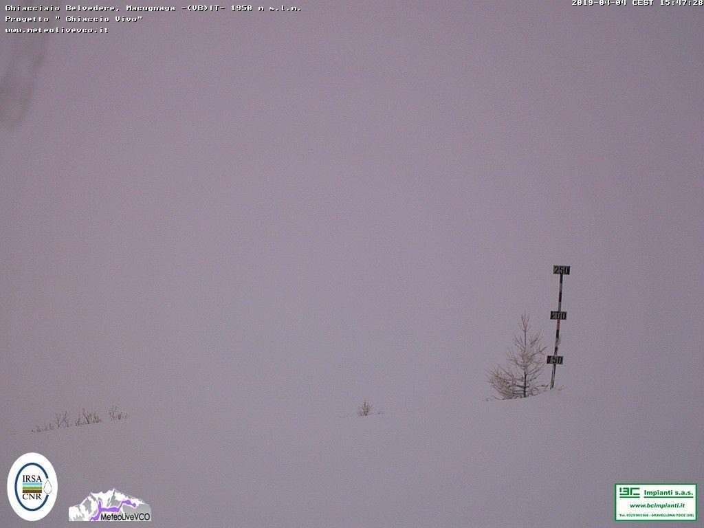 Nevicata al Belvedere di Macugnaga, 4 aprile 2019