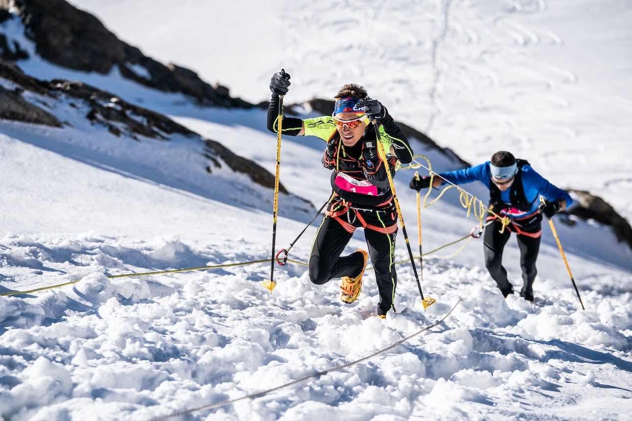 I vincitori della Monte Rosa SkyMarathon Boffelli e Herrmann