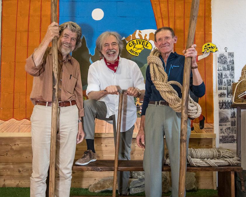 Reinhold Messner a Courmayeur con il suo nuovo libro