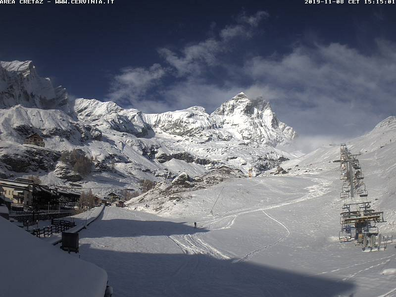 Forte nevicata in montagna 8 novembre 2019. Fotografie delle località più innevate