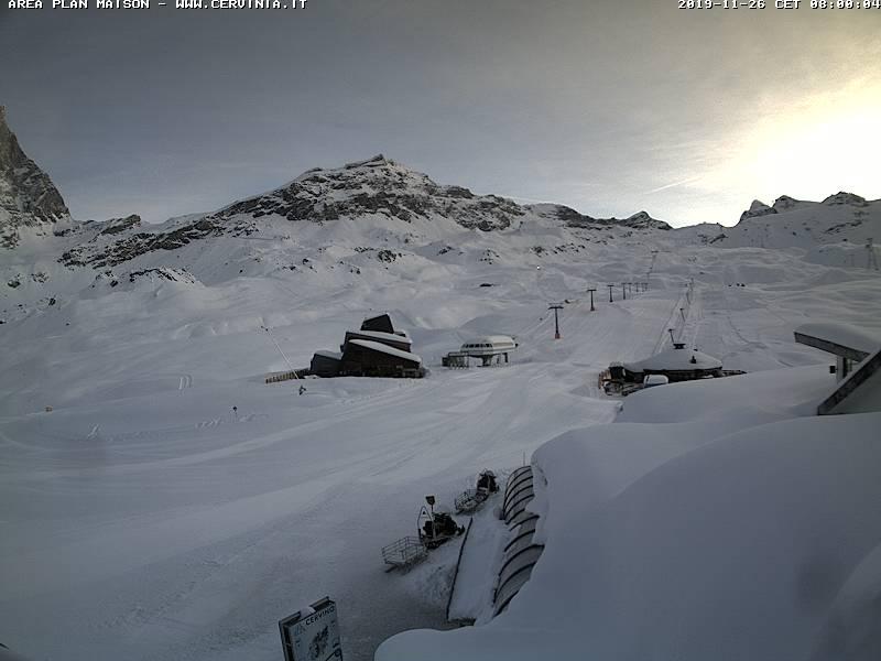 Cervinia neve 26 novembre 2019