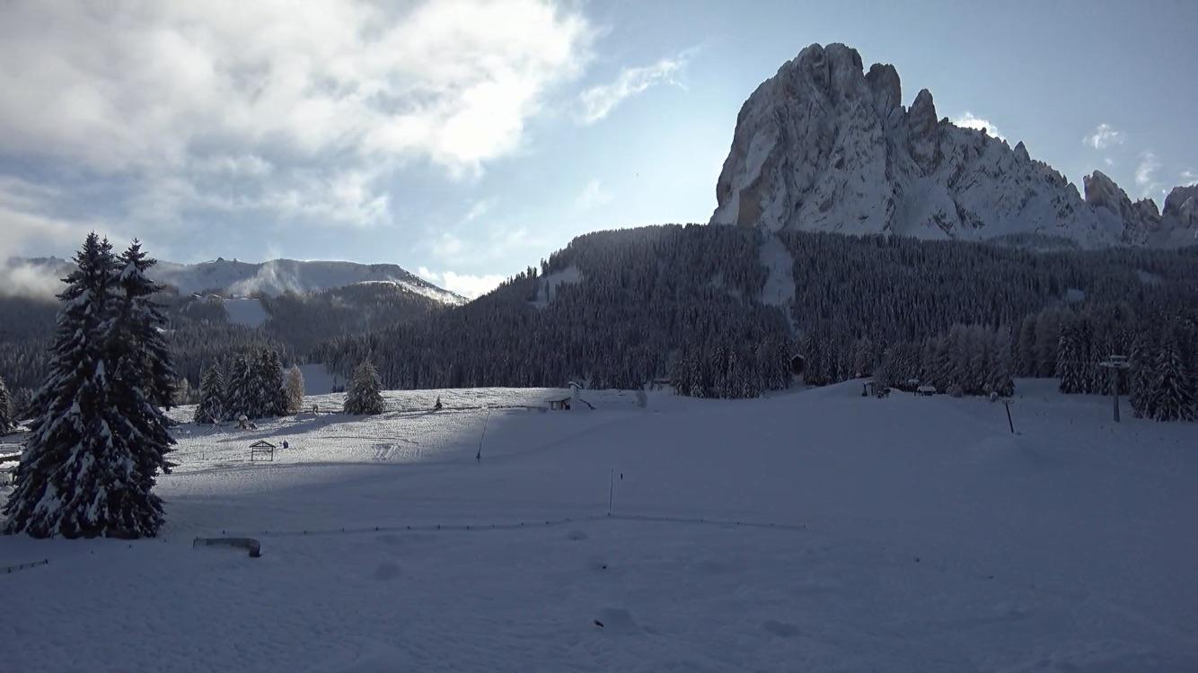 Neve in Val Gardena: Monte Pana, 18 novembre 219