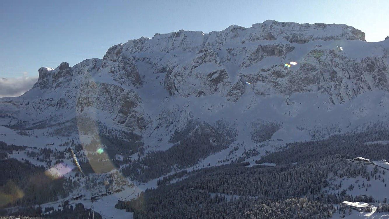 Neve in Val Gardena: Gruppo del Sellaronda dal Piz Sella, 18 novembre 219