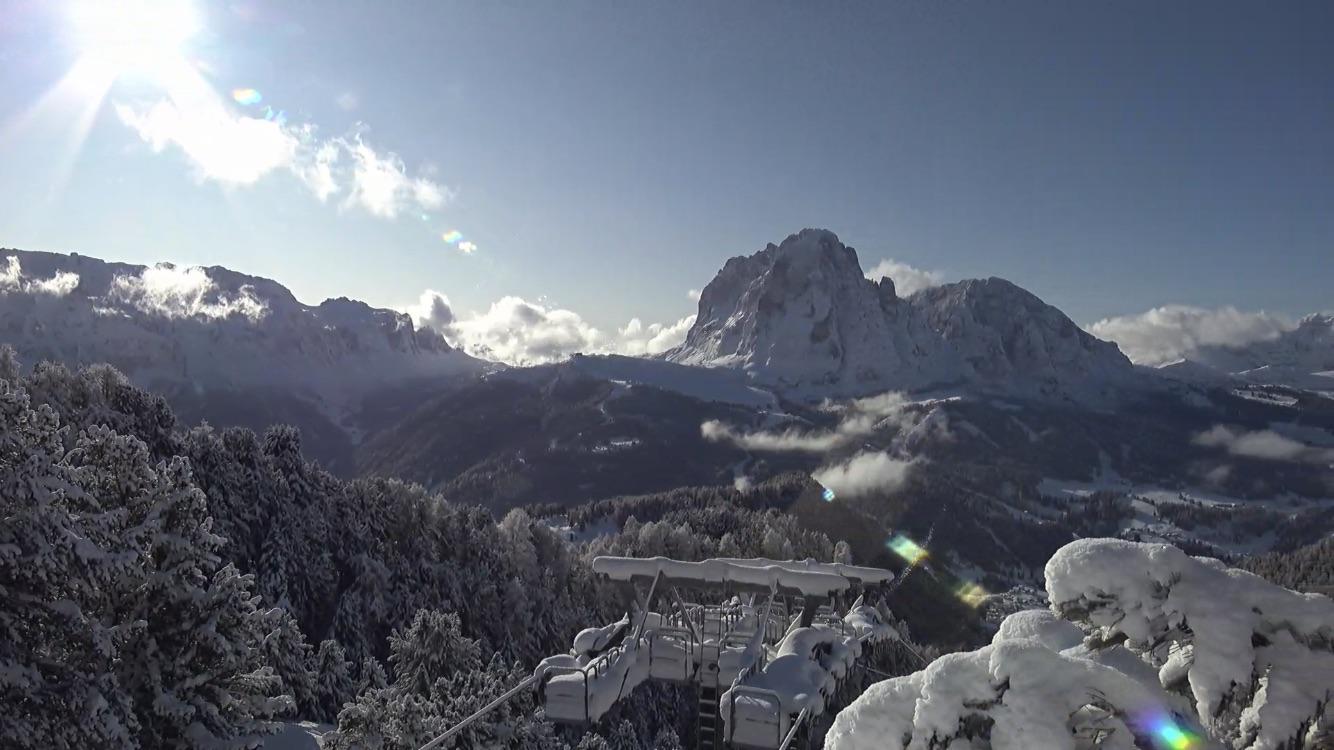 Neve in Val Gardena: Sassolungo, 18 novembre 219