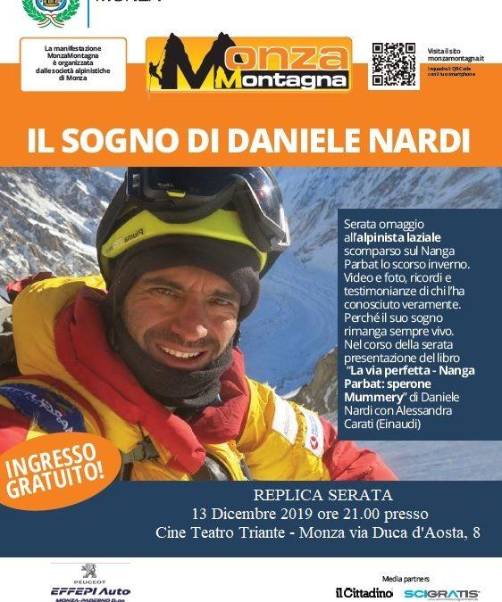 Daniele Nardi: replica serata al Festival Monza Montagna 2019