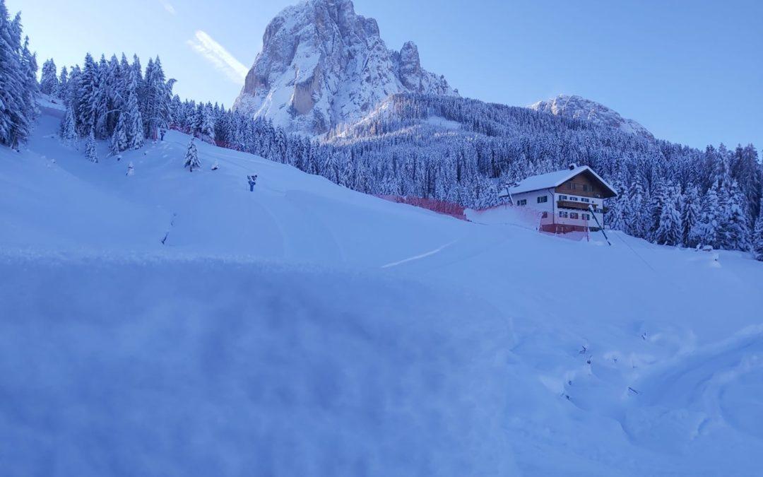 Val Gardena: OK controllo neve FIS per le gare di Coppa del Mondo 2019