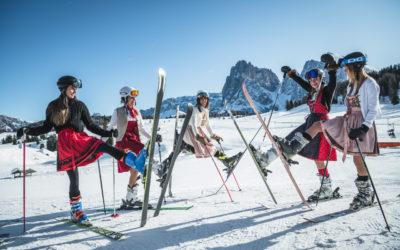 Festa delle donne 2020 in Val Gardena e Alpe di Siusi: slalom gigante in abito tradizionale Dirndl