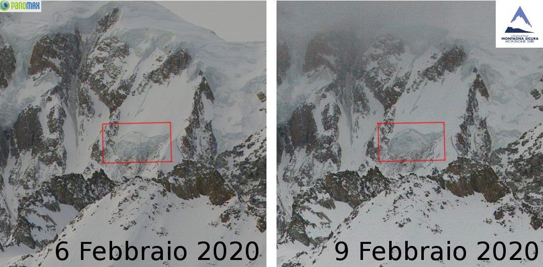 Crollo del seracco Gendarme Rouge sul Monte Bianco: caduti oltre 100.000 m3