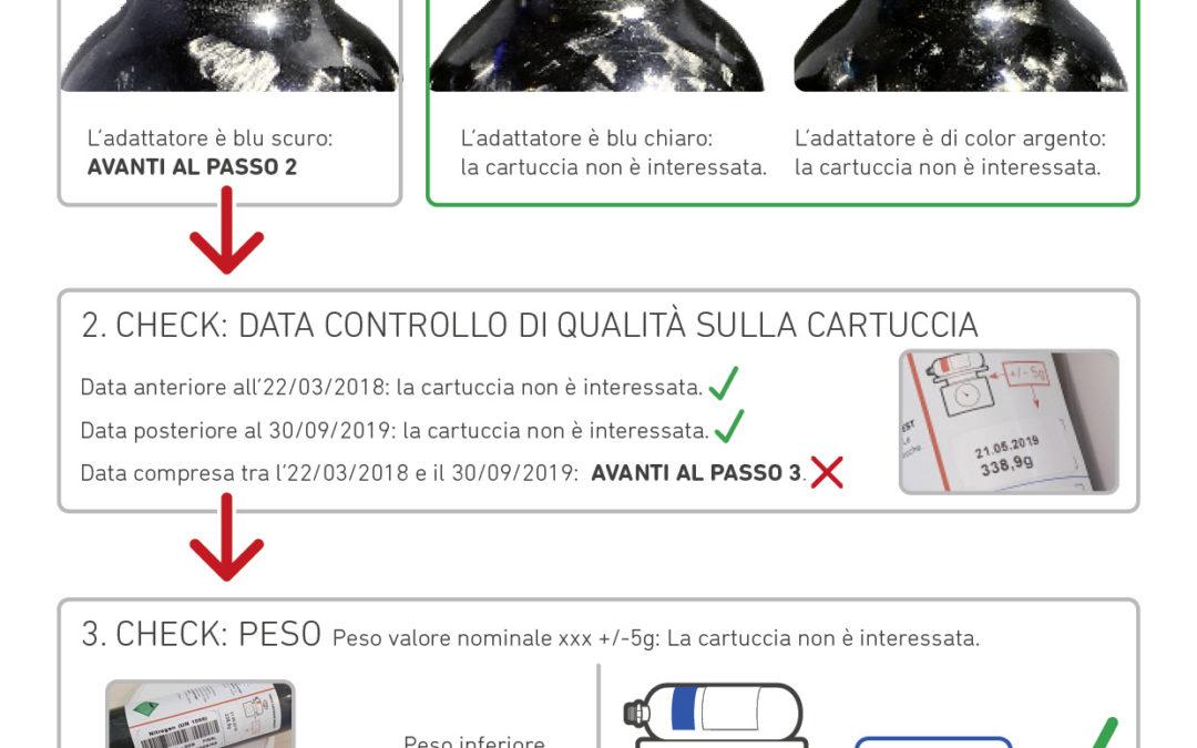 Avviso sicurezza cartucce Avabag Ortovox
