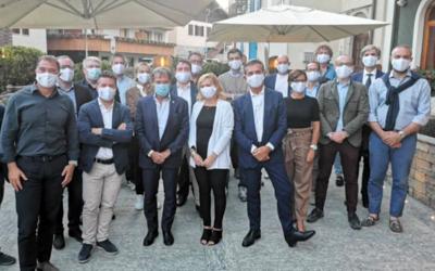 La delegazione di Milano-Cortina 2026 in Valtellina