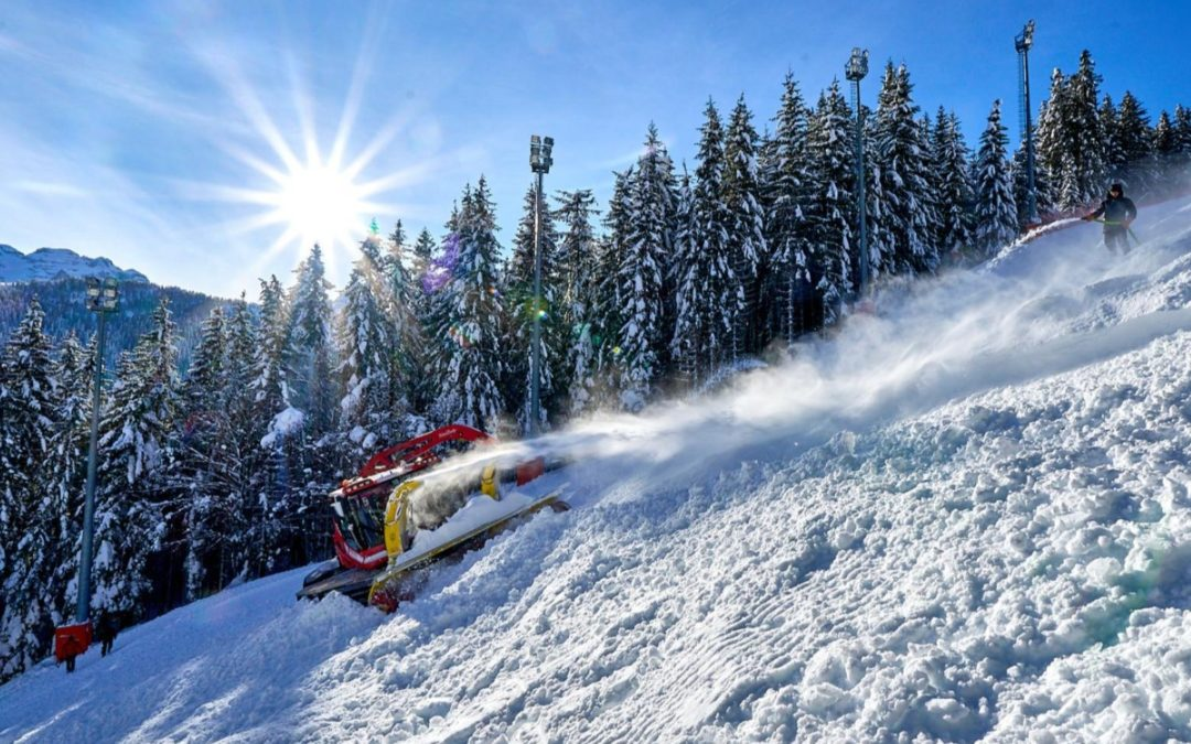 Snow control a Madonna di Campiglio: ok dalla FIS – Le foto della preparazione della pista