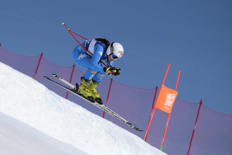 FIS ALPINE JUNIOR WORLD SKI CHAMPINOSHIPS TRENTINO VAL DI FASSA 2019 27-02-2019 Passo San Pellegrino DH Femminile RUNGGALDIER Teresa (ITA) Foto Apt Val di Fassa