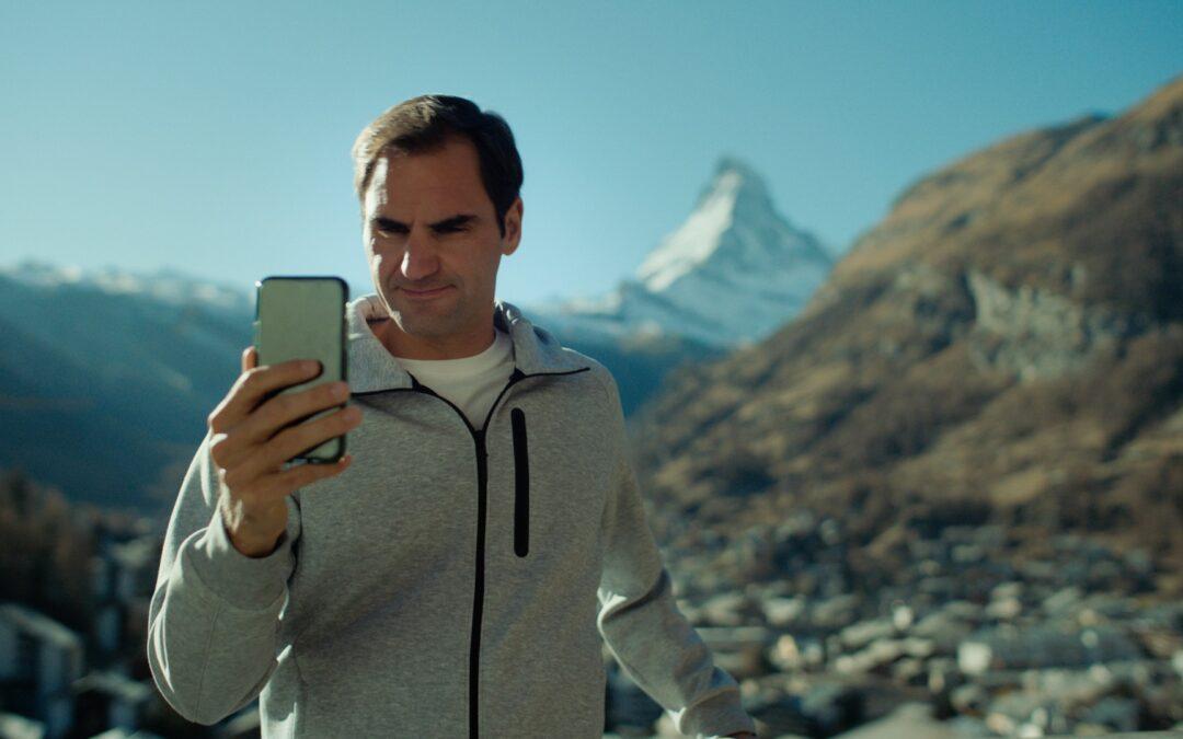 Roger Federer presenta le Alpi Svizzere a Robert De Niro