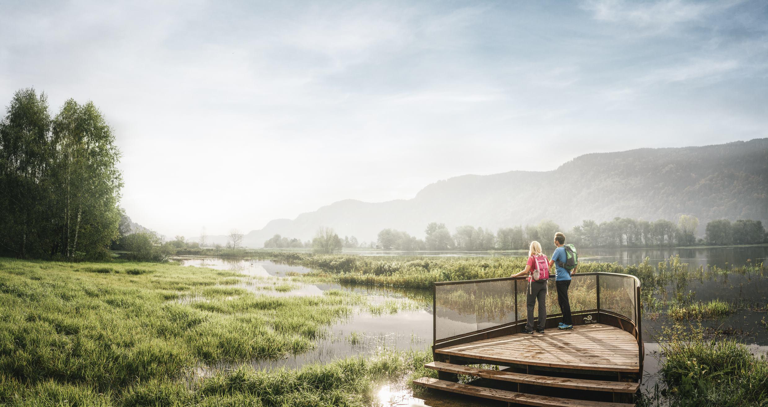 © Region Villach Tourismus_Stefan Leitner_OssiacherSee_SlowTrailBleistätter Moor2_mit Unterstützung von Bund und Europäischer Union