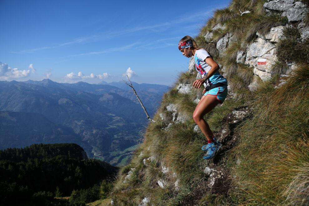 Martina Bilora passaggio tecnico Latemar Mountain Race 2021