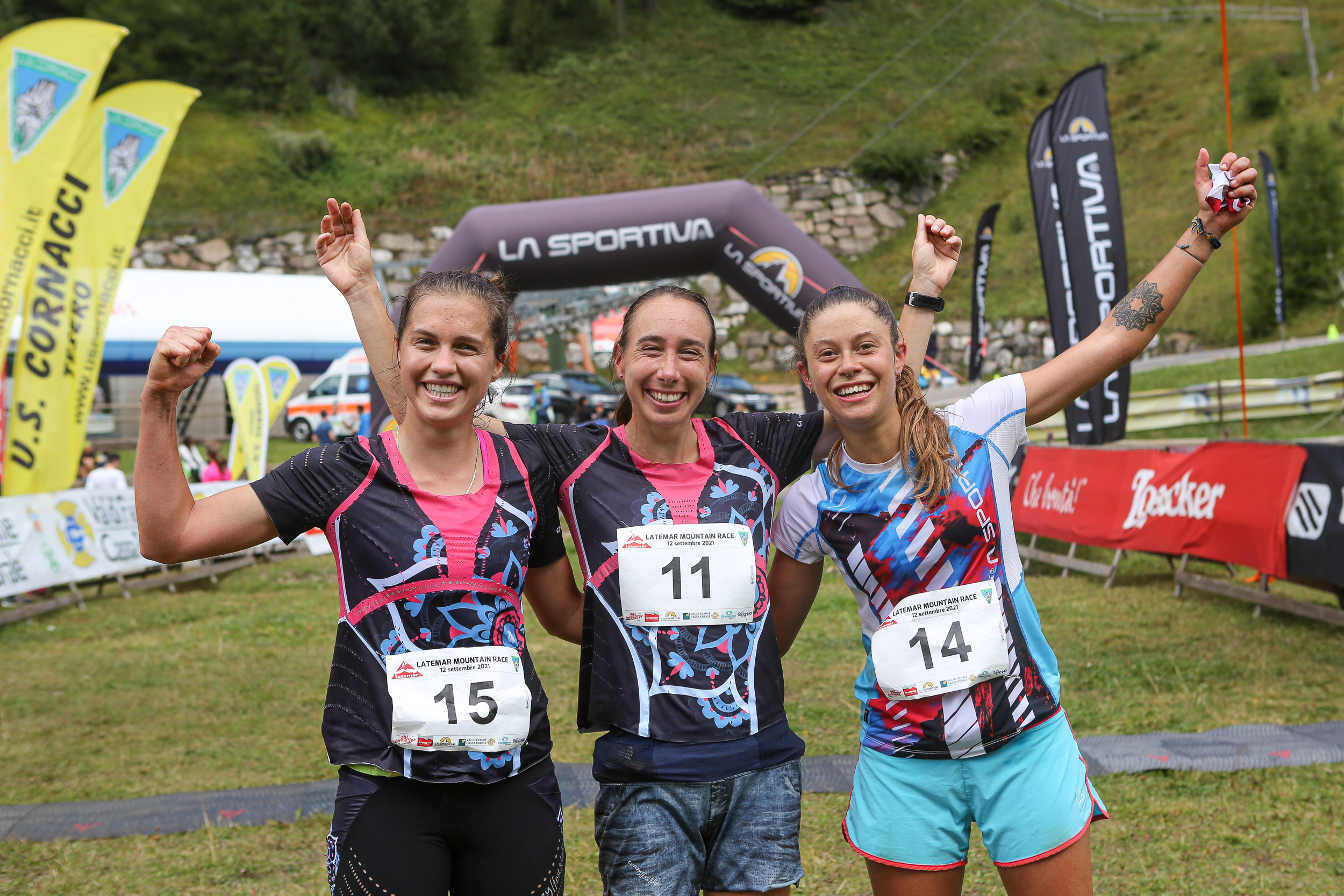 Podio femminile Latemar Mountain Race 2021