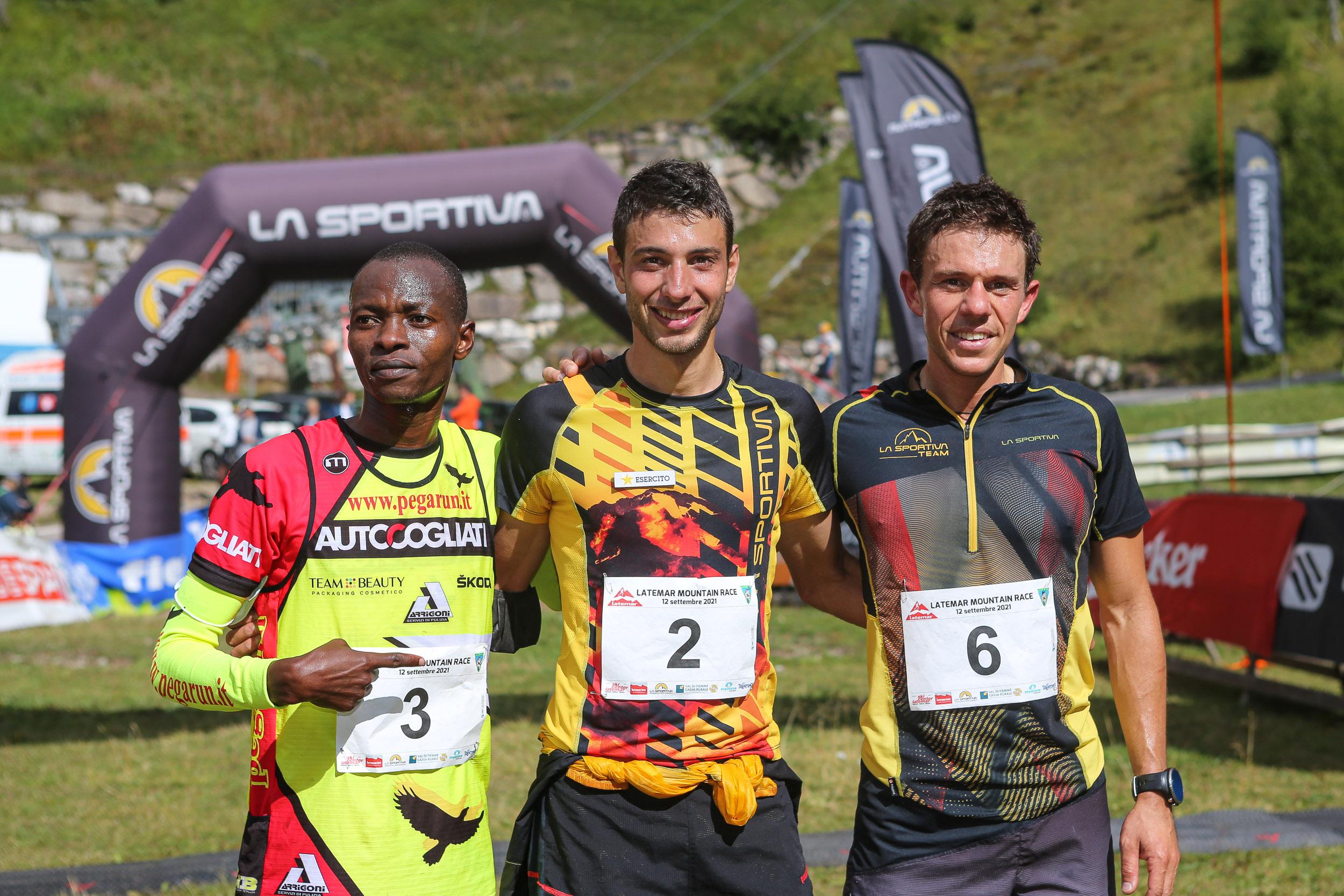 Podio maschile Latemar Mountain Race 2021