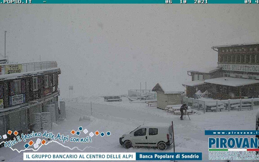 Prima neve dell'autunno 2021 sulle Alpi