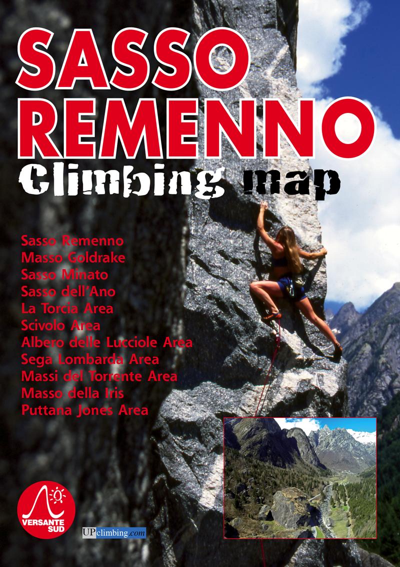 Sasso Remenno climbing map