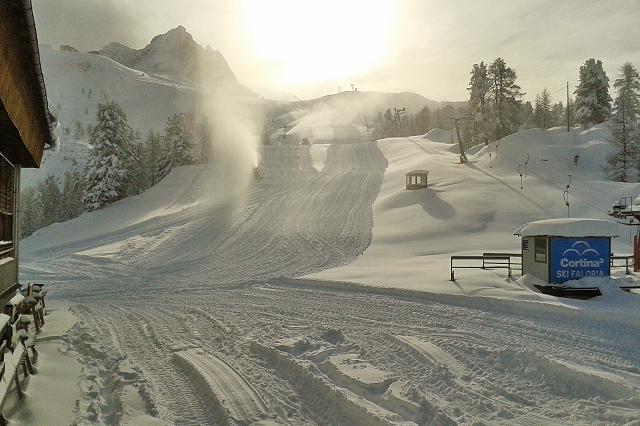Sci: piste aperte a Cortina