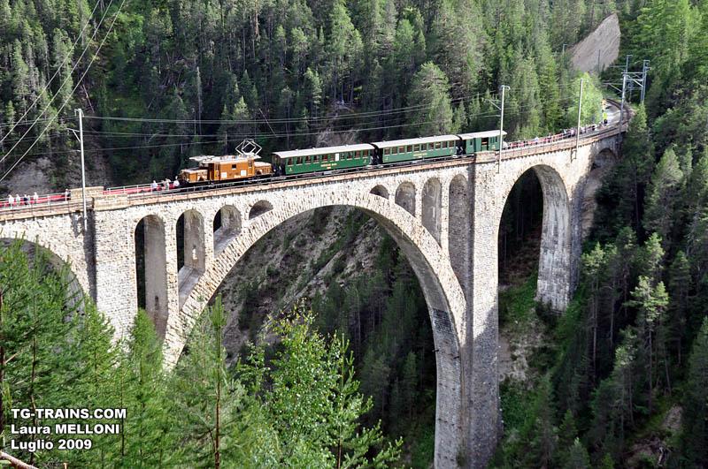 Ha 100 anni la linea Davos – Filisur delle Ferrovie Retiche