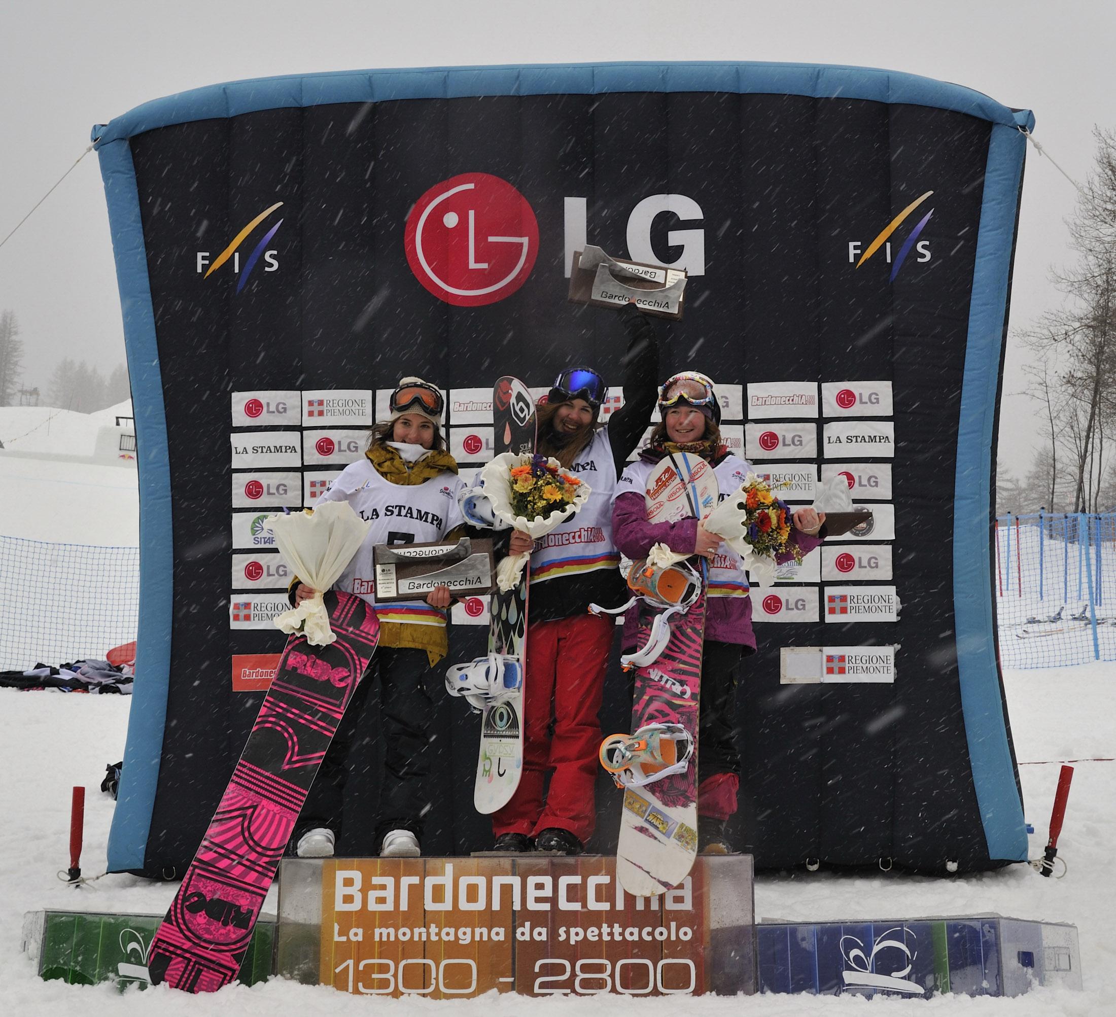 La prova di Slope Style chiude la tappa della LG Snowboard FIS World Cup di Bardonecchia