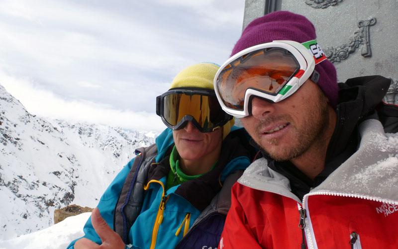 Prima discesa in snowboard della parete Nord della Becca di Nona