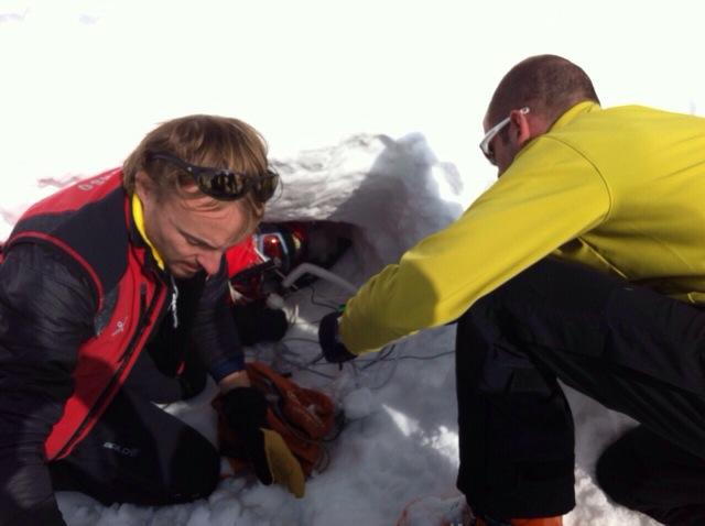 Respirare sotto la neve. Studi in corso a Cervinia
