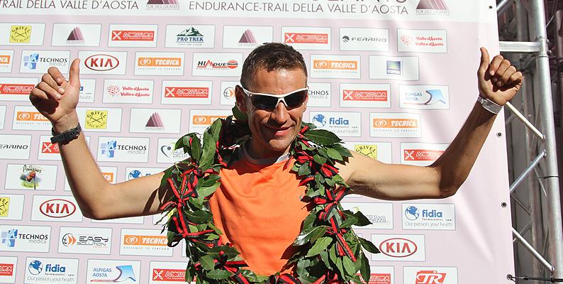 Franco Collé vince il Tor des Géants