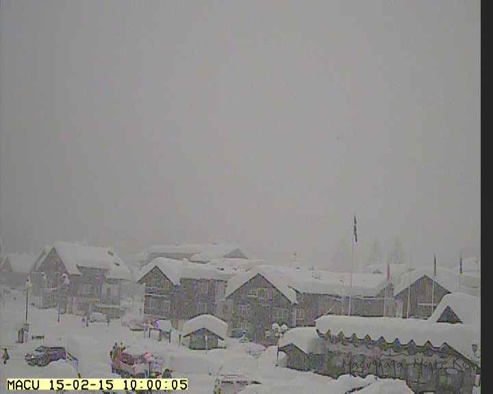 Forte nevicata sulle Alpi occidentali