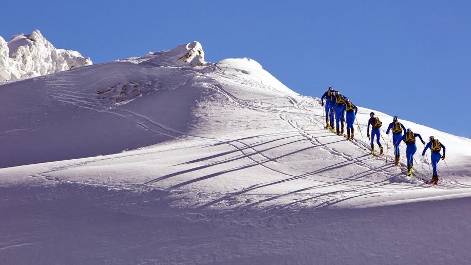 La Nazionale di scialpinismo in raduno a Falcade