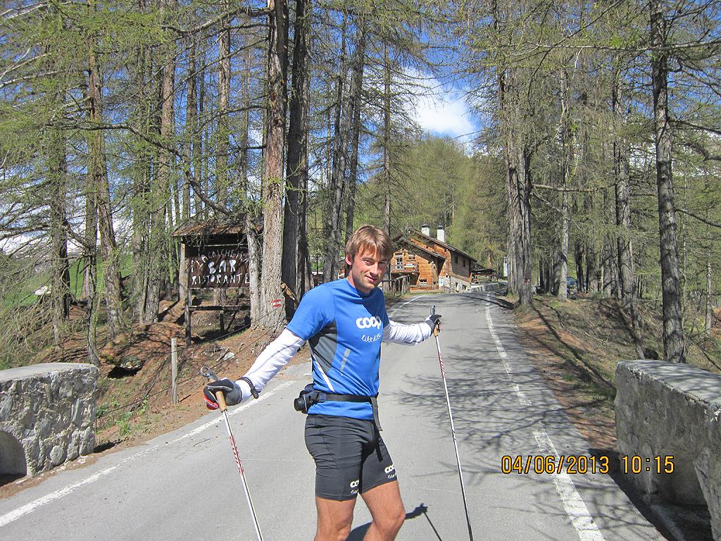 Sci di fondo: Petter Northugg in allenamento a Livigno