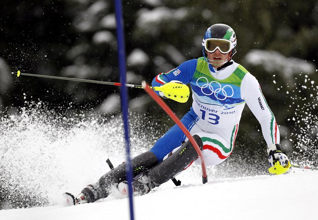 Giuliano Razzoli sul podio nello speciale dell'Alta Badia