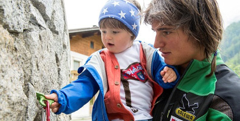 Simon Gietl, un alpinista papà