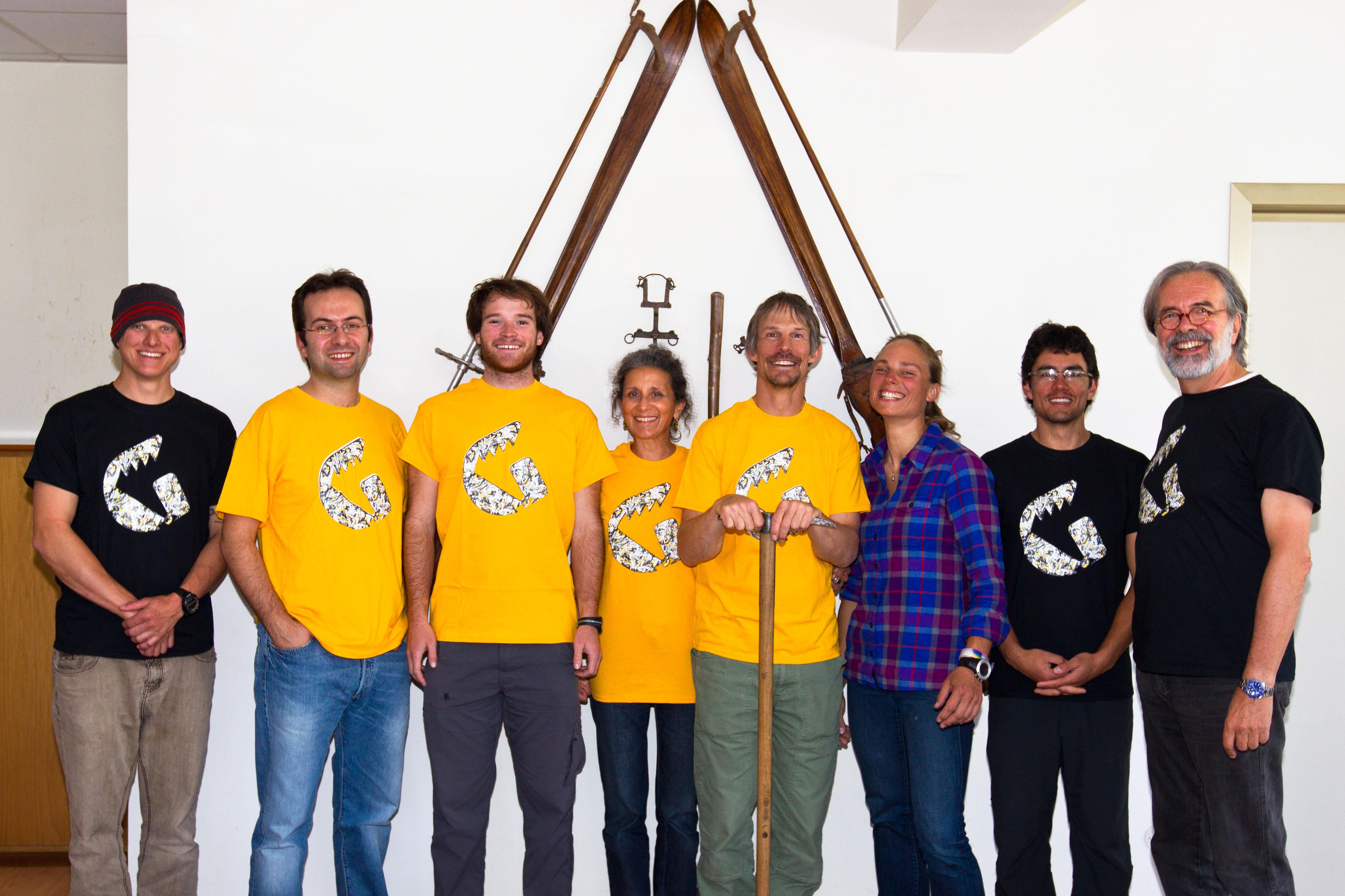 """Steve House e i quattro allievi di """"Alpine mentors"""" in visita alla Grivel di Verrayes"""