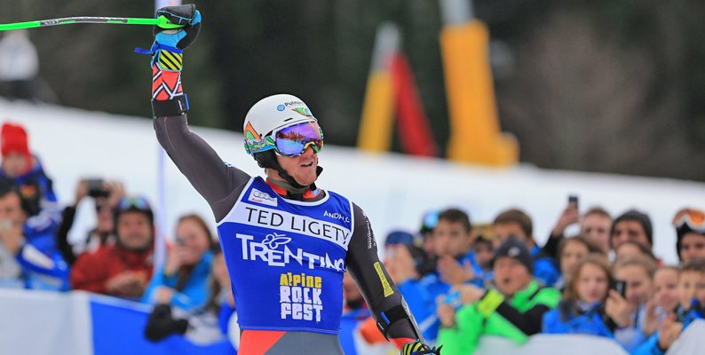 Ted Ligety in Paganella per l'Alpine Rock Fest