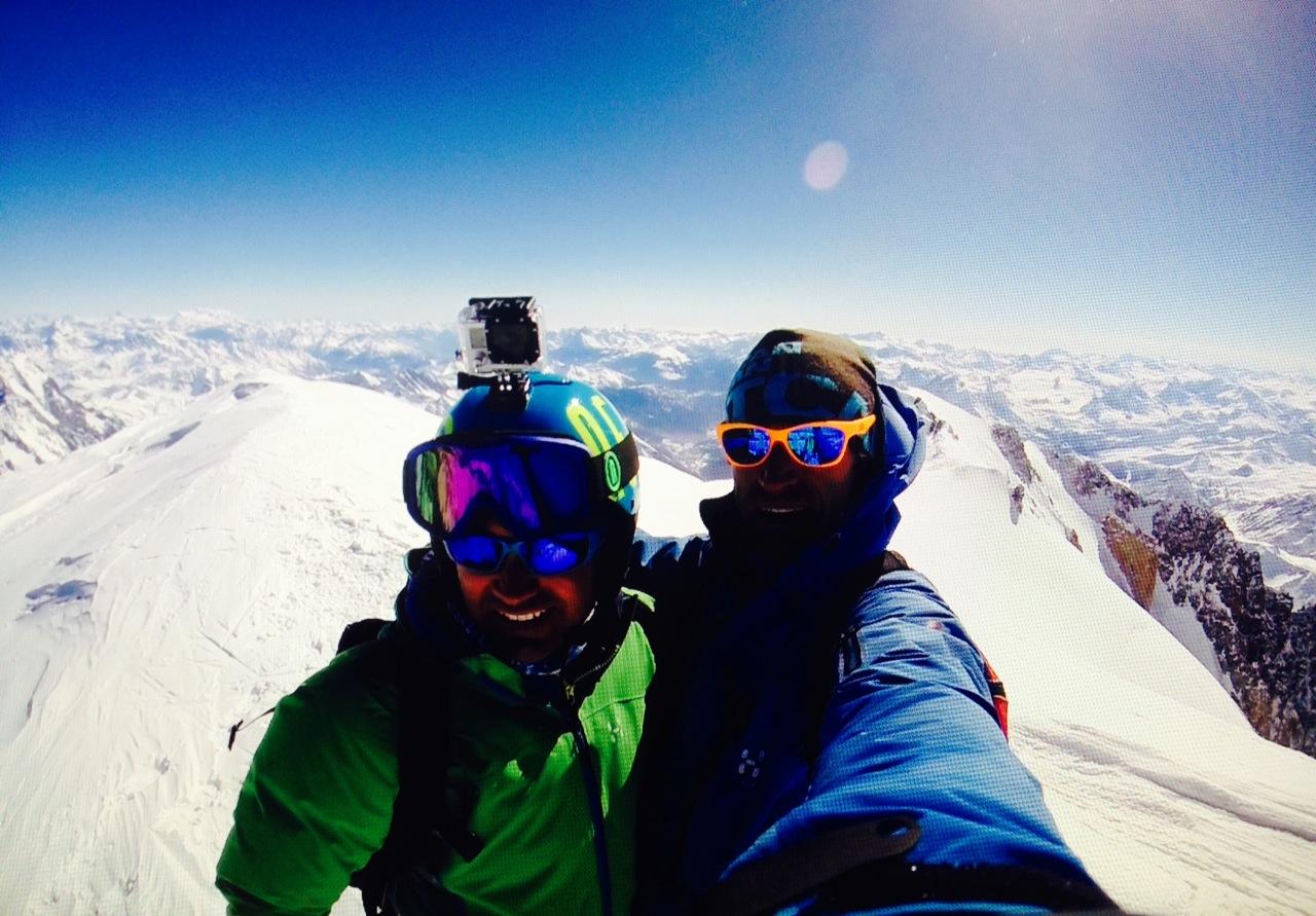 Discesa in speed sul Monte Bianco