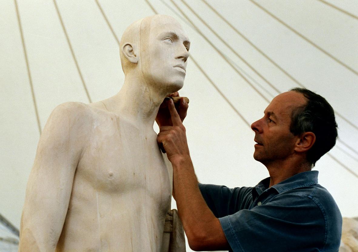 Simposio Unika, la settimana di scultura in piazza a Selva Gardena