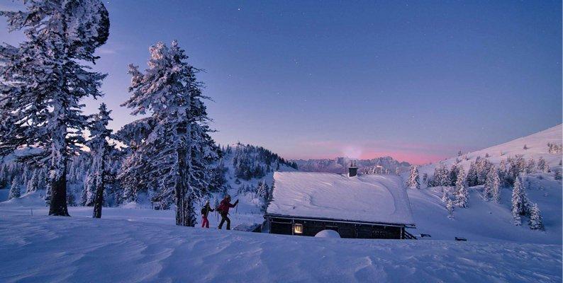 Inverno nella regione alpina di Villach