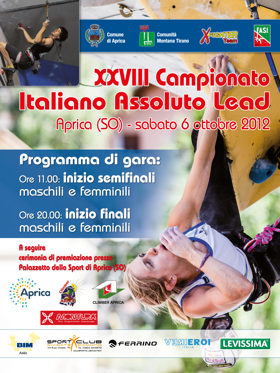 Climbing nazionale ad Aprica con il campionato assoluto Lead