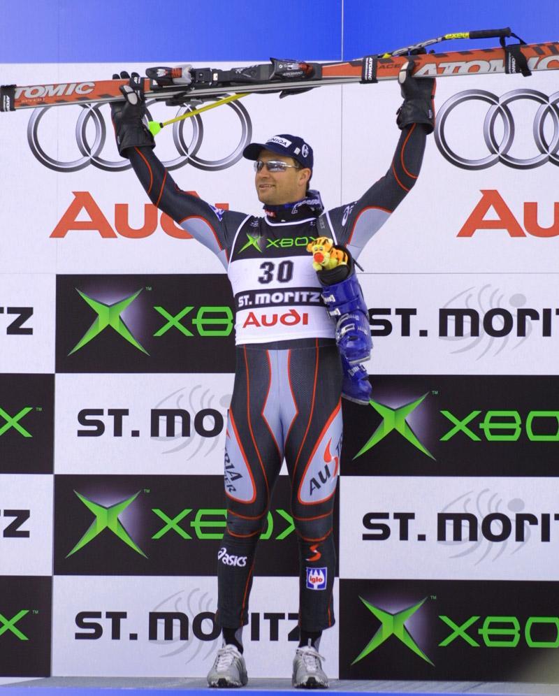 Il primo oro di St.Moritz 2003 a Stephan Eberharter