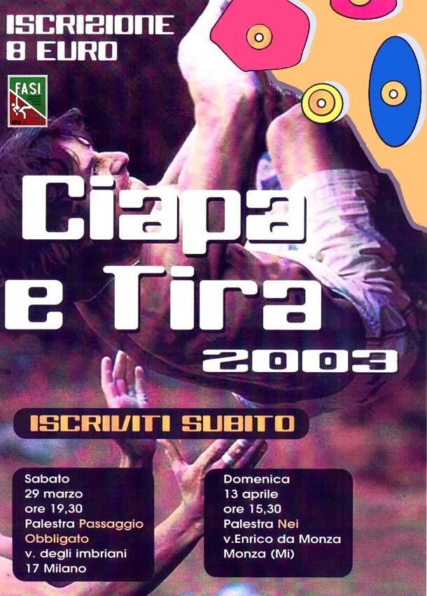 """""""Ciapa e tira"""", meeting promozionale di arrampicata sportiva"""