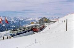 Treni delle Alpi: sul Rigi a slittare con il treno …. di sera