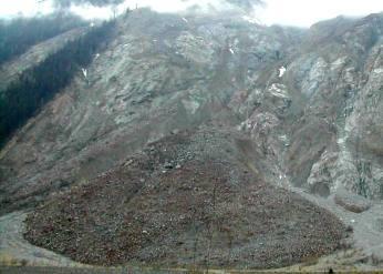Frana in Valtellina,attimi di paura