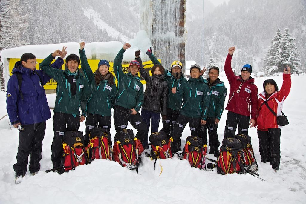 Delegazione della China Mountaineering Association in Valle d'Aosta