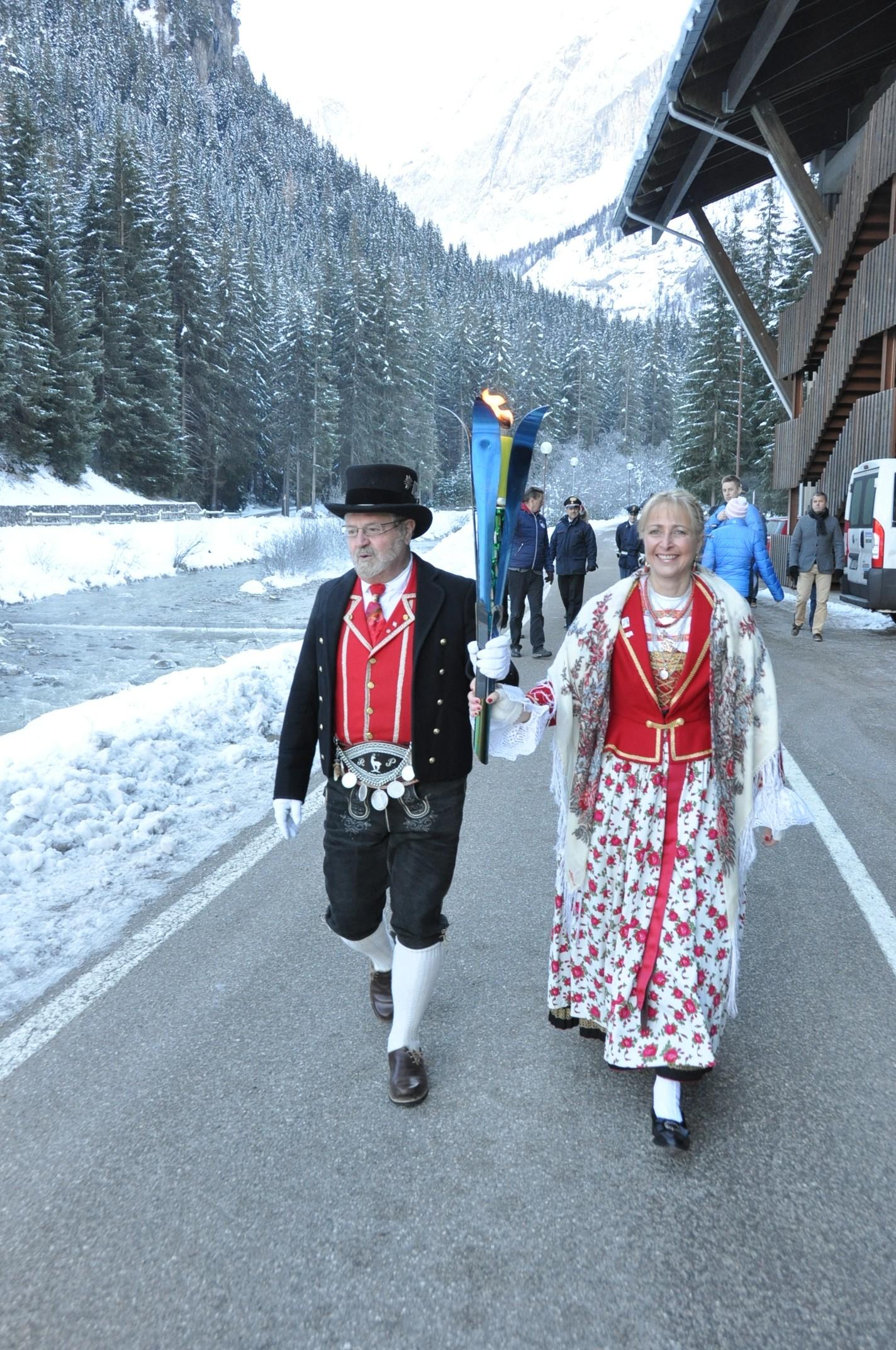 La torcia dell'Universiade invernale Trentino passa per le tappe dell'edizione 2013
