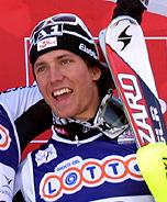 Stefano Gross sul podio nello slalom speciale di Schladming