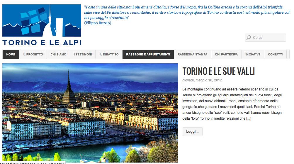 Progetto Torino e le Alpi, online il sito web