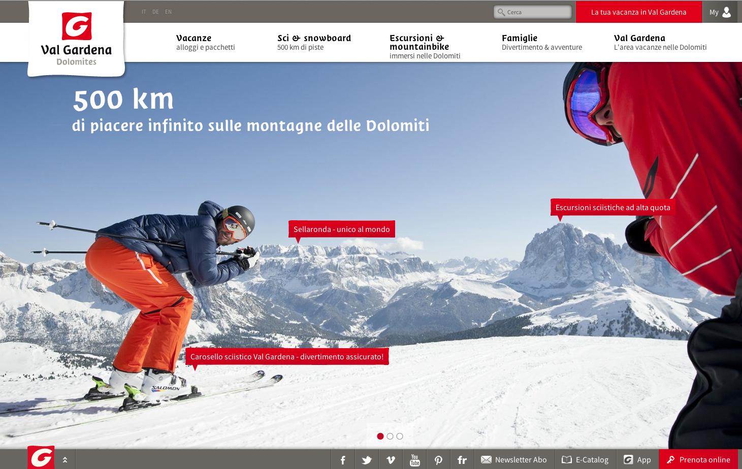Val Gardena: online il nuovo sito valgardena.it
